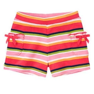 """BLOOMING NAUTICAL"" Stripe Bow Pocket Shorts"